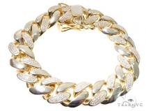 Silver CZ Solid Miami Cuban Link Bracelet 8.75 Inches 17mm 138.0 Grams 64084 シルバー ブレスレット