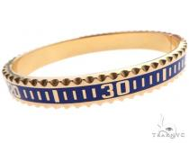 14K Yellow Gold Yacht Master II Style Bangle Bracelet ゴールド メンズ ブレスレット