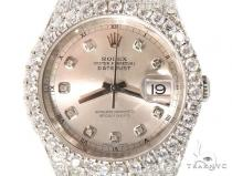 Custom Fully Iced Out Datejust Rolex Watch Diamond Rolex