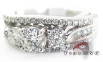 White Gold Wedding Ring ダイヤモンド 婚約 結婚指輪
