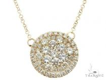 14K Yellow Gold Diamond Cluster Pendant 64787 ダイヤモンドネックレス