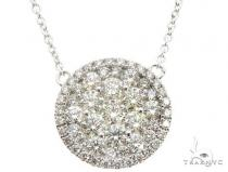 14K White Gold Diamond Cluster Pendant 64788 ダイヤモンドネックレス