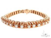 10k RG 7.5mm Diamond Tennis Bracelet 64876 メンズ ダイヤモンド ブレスレット