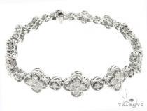 14k White Gold Diamond Bracelet 65025 ダイヤモンド ブレスレット