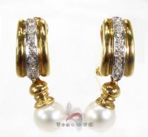 Royal Pearl Earrings Stone