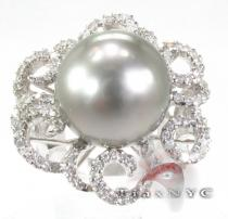 Pearl Flower Ring Pearl Diamond Rings