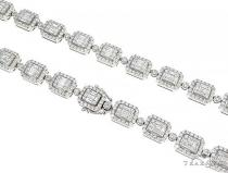 Baguette Invisible Diamond 22 inch Chain 65294 ダイヤモンド チェーン
