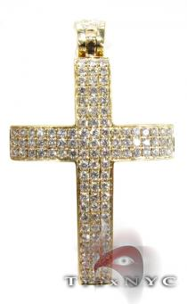 Yellow Thunder Cross Mens Diamond Cross