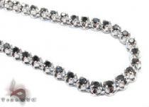 White Gold Black Diamond Chain 24 Inches 4.30mm 37.3Grams 65638 ダイヤモンド チェーン