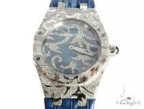 Audemars Piguet Royal Oak Lady Oak Leaves 18K Solid White Gold Diamond Watch 65687 Diamond Rolex