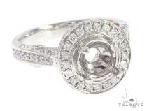 14K White Gold Semi Mount Diamond Rings 65711 ウェディング