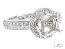 14K White Gold Semi Mount Diamond Engagement Rings 65719 エンゲージメント