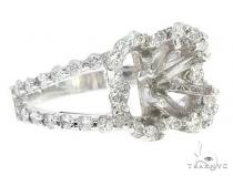 14K White Gold Semi Mount Diamond Engagement Rings 65720 エンゲージメント