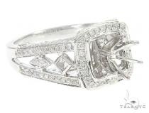 18K White Gold Semi Mount Diamond Engagement Rings 65722 エンゲージメント