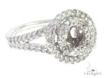 14K White Gold Semi Mount Diamond Engagement Rings 65723 エンゲージメント