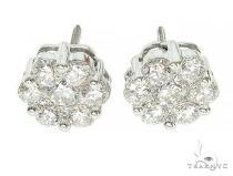 True VS Cluster Stud Earrings メンズ ダイヤモンドイヤリング ピアス