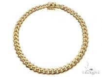 14K Yellow Gold Solid Miami Cuban Link Bracelet 8 Inches 6 mm 27.2 Grams 66042 ゴールド メンズ ブレスレット