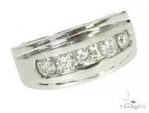 Mens Luxuriousness Five White Gold Wedding Ring メンズ ダイヤモンド 結婚指輪