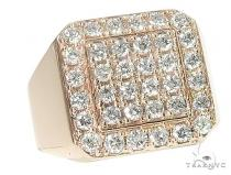 TraxNYC Heavy 14k Gold Ring メンズ ダイヤモンド リング