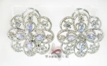 Lavender French Clip Sterling Silver Earrings レディース シルバーイヤリング