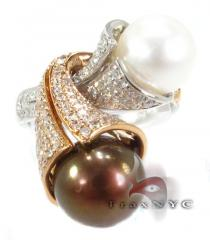 Pearl Tuba Ring Pearl Diamond Rings