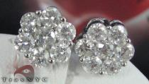Round Cut XLE Studs Mens Diamond Earrings