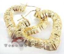 Golden Heart Earrings 3 レディース ゴールドイヤリング