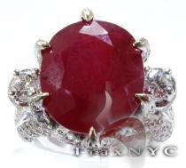 Custom Jewelry - Royal Ruby Crimson Ring ジェムストーン ダイヤモンド リング