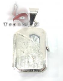 Solid White Gold Locket Metal