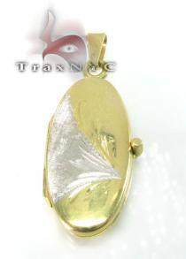 Two Tone Gold Locket Metal