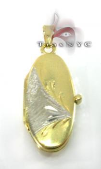 Two Tone Gold Locket 2 Metal
