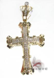 Peru Cross Mens Diamond Cross