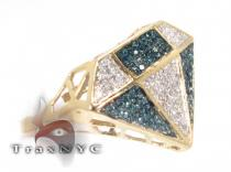 Pave Bling Ring Colored Diamond Rings