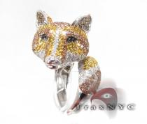 Fox Ring Colored Diamond Rings
