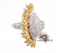 Sunflower  Ring 2 Colored Diamond Rings