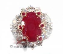Custom Jewelry - Ruby Betwixt Ring ジェムストーン ダイヤモンド リング