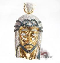 Corinthian Jesus Piece Pendant Diamond Jesus Piece