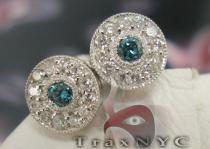 Mini Blue & White Studs Diamond Earrings For Women