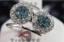 Blue Flower Ring E.X Womens Diamond Rings