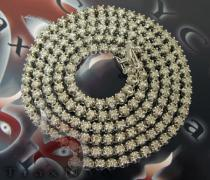 Round Cut Prong Chain 32 Inches, 5mm, 71 Grams Diamond Chains