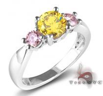 Ladies Canary & Pink Intense Ring Anniversary/Fashion