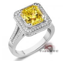 Ladies Canary Crown Ring Colored Diamond Rings