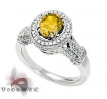 Ladies Canary Sun Ring Anniversary/Fashion