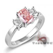 Ladies Tulip Ring Colored Diamond Rings