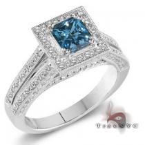 Ladies Blue Crown Ring Anniversary/Fashion
