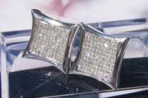 Hip Hop Jewelry - Hip Hop SQ3 Diamond Earring Mens Stud Earrings