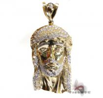 XL CZ Jesus Pendant Gold Pendants