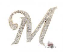 XL Initial M Pendant Diamond Pendants