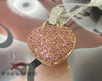 Rose Gold Sapphire Heart Pendant Diamond Pendants