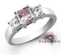 Ladies Spring Ring Colored Diamond Rings